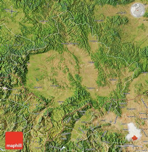 maps kosovo satellite kosovo satelliten karte