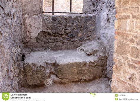 stone bed stone bed in pompeii stock photography image 23204242