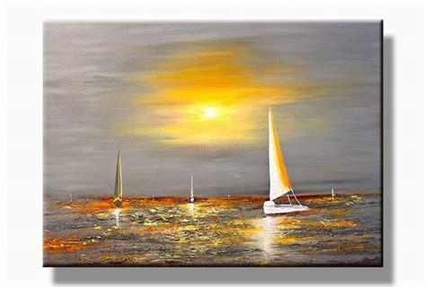 zeiljacht schilderen boten schilderij zeiljachten zee landschap