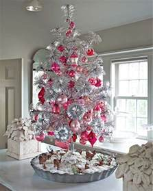 white christmas tree pink decorating ideas christmas