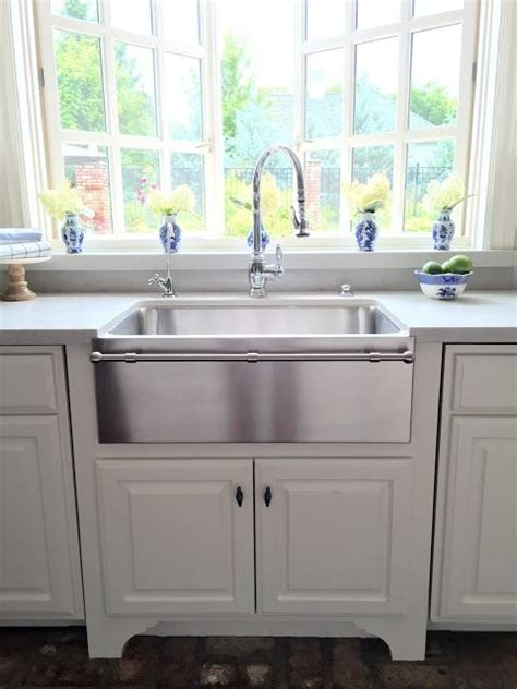 stainless steel apron sink with towel bar eleven gables kitchen as featured in design oklahoma