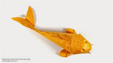 Koi Fish Origami - kade chan origami 香港摺紙工作室 日誌 origami koi fish