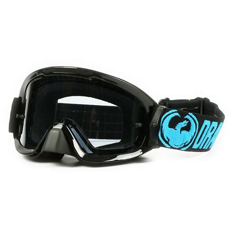 tinted motocross goggles mx mdx2 black blue smoke tinted dirt bike