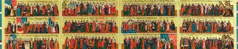 Calendar Of Saints Schedule St The Baptist Orthodox Church