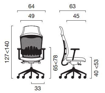 emmegi sedute sedia direzionale work mesh emmegi seating arcositalia shop
