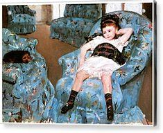 mary cassatt little girl in blue armchair little girl in a blue armchair painting by mary cassatt