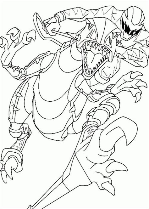 power rangers robot coloring pages power rangers dino thunder rides a robot coloring page