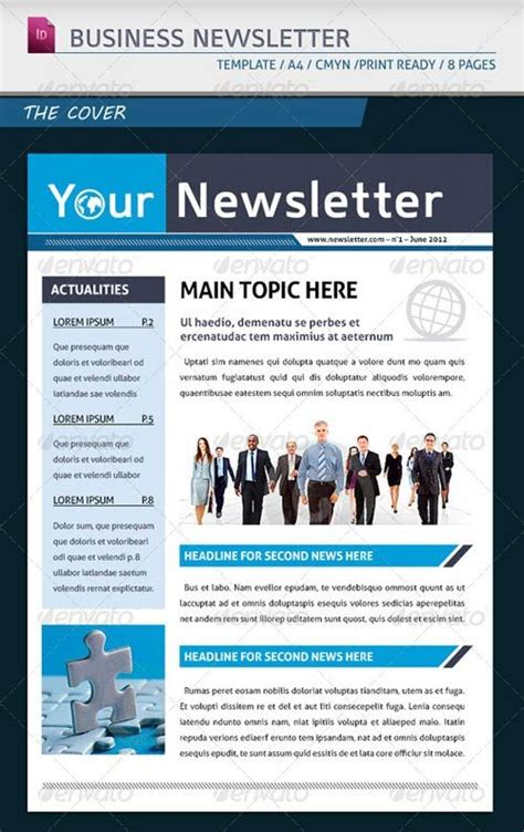 business newsletter layout ideas google search