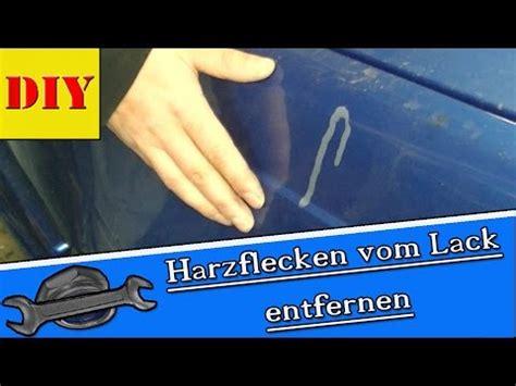 Harz Auf Auto Entfernen by Eingetrockneten Harz Schonend Vom Autolack Entfernen