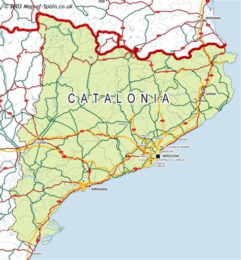 map of catalonia spain catalu 241 a map
