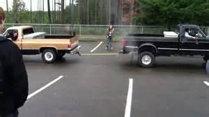 chevy truck vs ford truck tug of war horsepower