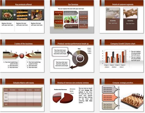 powerpoint template card catalog powerpoint gold visiting card template