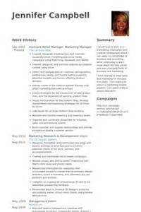 Fashion Brand Manager Sle Resume by Retail Manager Resume Sles Visualcv Resume Sles Database