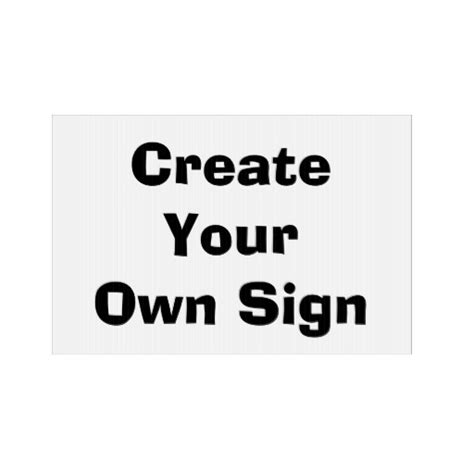 create your own yard sign zazzle