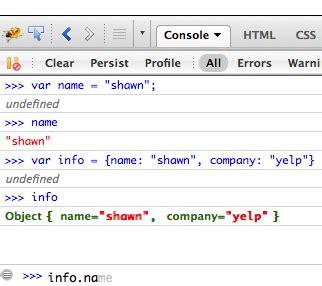 firebug console log javascript