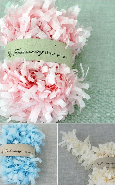 tissue paper flower garland tutorial 36 best wedding planning images on pinterest fabric
