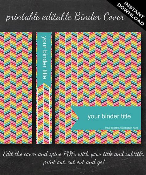 editable binder cover templates best photos of editable binder covers and spines student