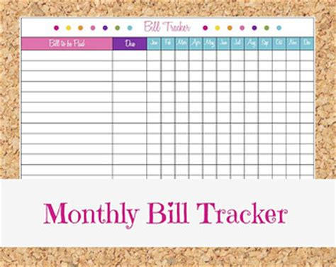 monthly bill organizer template free 7 best images of printable monthly money management