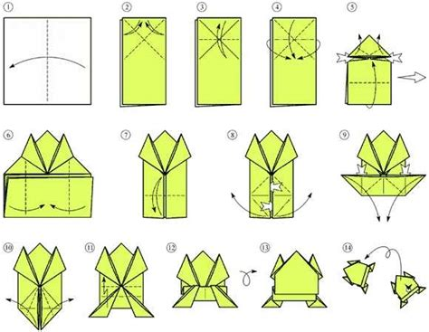 Hopping Frog Origami - origami hopping frog how to make a paper origami frog