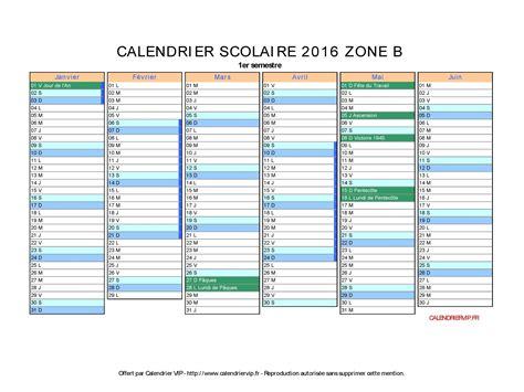 Calendrier 2016 Avec Vacances Scolaires Zone B à Imprimer Calendrier Scolaire 2016 224 Imprimer Gratuit En Pdf Et Excel