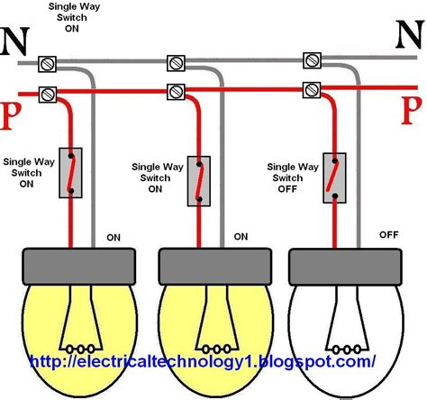electric light circuit wiring a light switch each l by separately switch