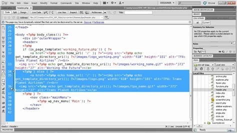 how to use templates in dreamweaver tutorial changing a template header with
