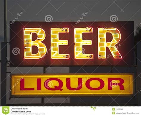liquor signs generic and liquor sign royalty free stock photo image 19435155