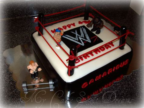 Decorations For Welcome Home Baby wwe wrestling cake cake decorating community cakes we bake