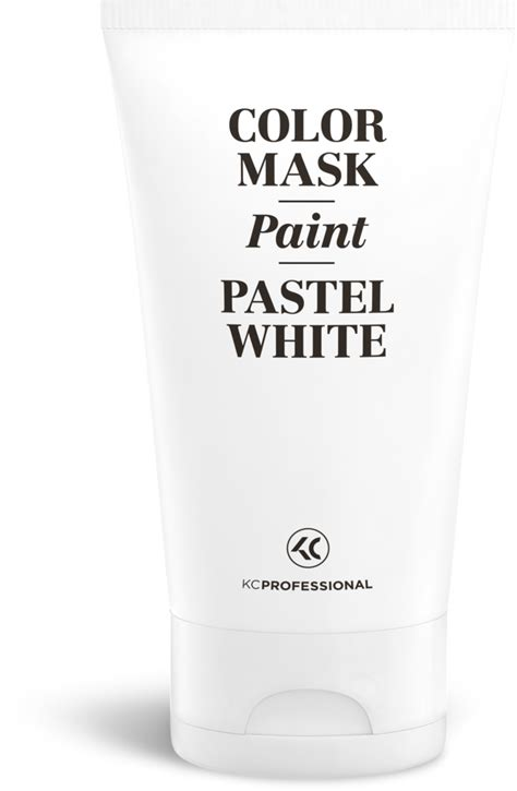 pastel white color mask paint