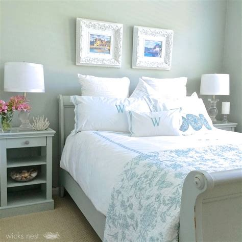 restoration hardware silver gray green blue color which lends itself to a tranquil