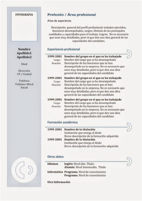 curriculum vitae 2016 da compilare curriculum vitae pronto da compilare