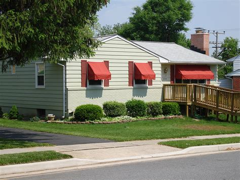 residential metal awnings residential awnings a hoffman awning co