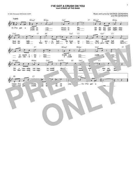 Sheet Music Digital Files To Print - Licensed Ira Gershwin