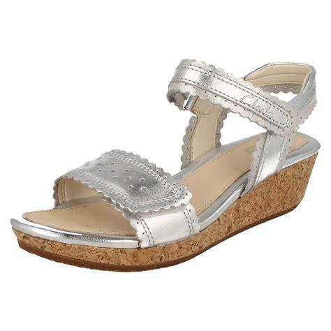 infant junior clarks sandals with wedge heel harpy myth ebay