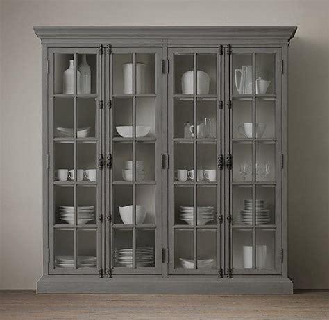 French Casement Grey 4 Door Cabinet