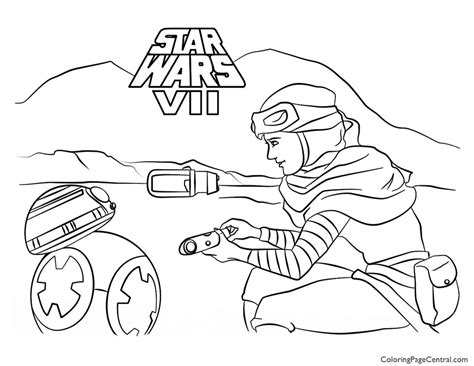 star wars bb 8 coloring pages star wars rey and bb 8 coloring page coloring page central