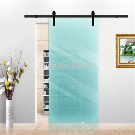 Aliexpress Com Buy 5ft 6ft 6 6ft Black Rustic Sliding Black Interior Doors For Sale