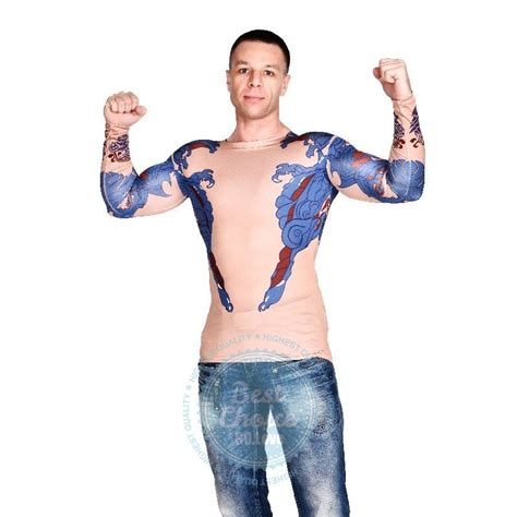 tattoo girl halloween costume 2015 new imitation tattoo top hunk man hunk halloween