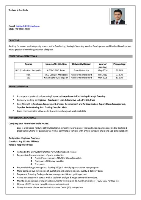 sle resume of purchase manager 28 images chief