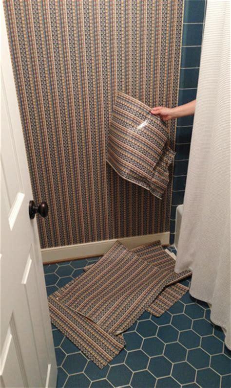 how to wallpaper a bathroom how to remove bathroom wallpaper interior design ideas
