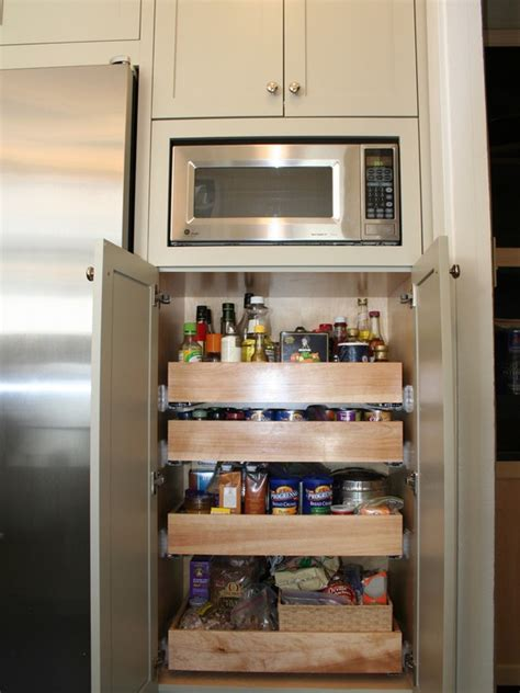 microwave in pantry kitchen microwave storage design small pantry