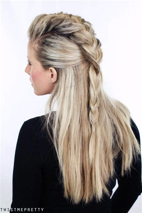how to braid hair warrior style half up braidhawk hair style pinterest pirates