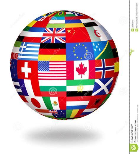 globe l global flags of the world stock illustration illustration