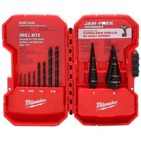 milwaukee step drill bit kit 10 48 89 9222 the