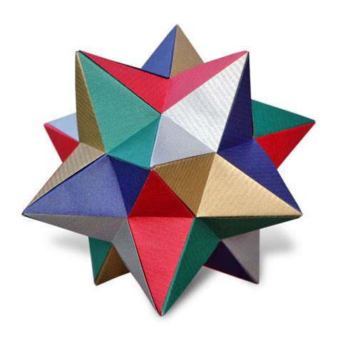 Origami Stellated Dodecahedron - home ez origami