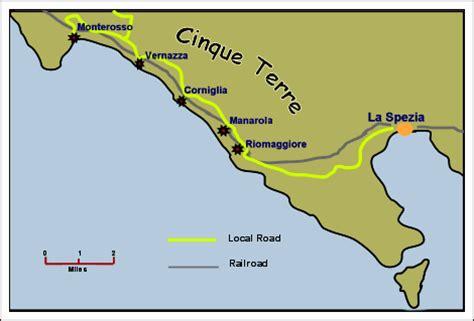 cinque terre italy map corniglia travel across italy