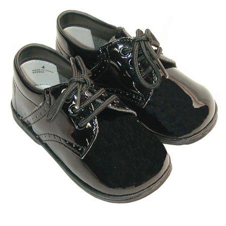 baby toddler boy patent black classic saddle style dress shoe size 1 7 walmart