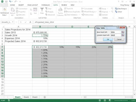 excel what if data table how to create a two variable data table in excel 2013