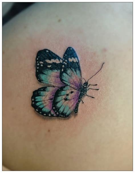 tattoo 3d papillon papillon realiste tatouage r 233 aliste par boutillier remy