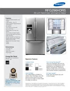 French Door Fridge White - samsung refrigerator rfg296hdrs user s guide manualsonline com